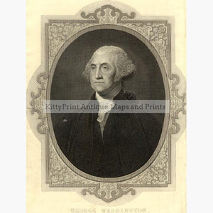 George Washington c.1800 Prints KittyPrint 1800s Canada & United States Royalty Nobility & Celebrity