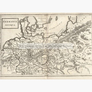 Germany Germania Antiqua c.1776 Maps KittyPrint 1700s Civilizations & Empires Germany