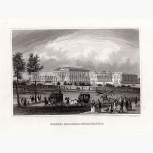 Girard College In Philadelphia 1859 Prints