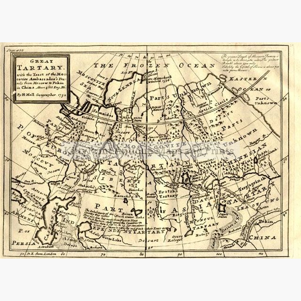 Great Tartary 1732. Maps KittyPrint 1700s Asia Regional Maps