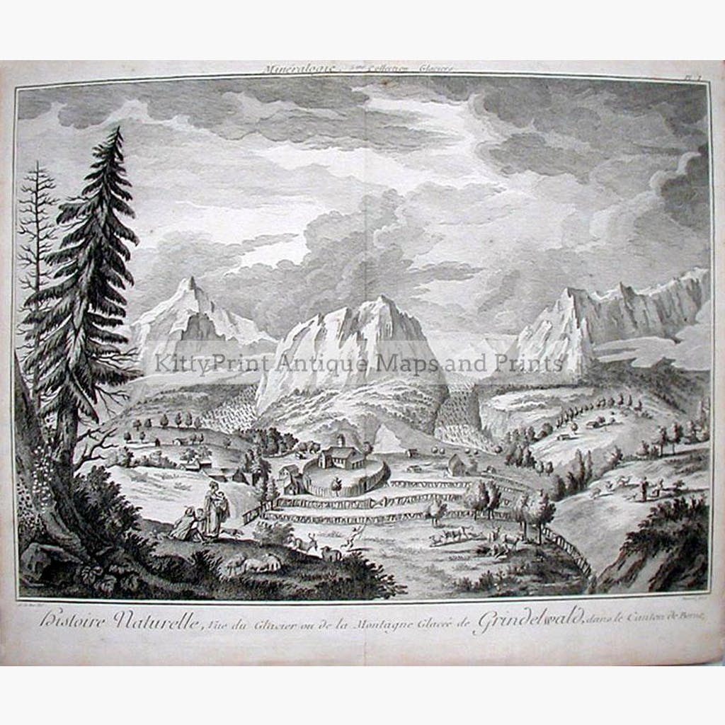 Grindelwald 1772 Prints KittyPrint 1700s Landscapes Switzerland Townscapes