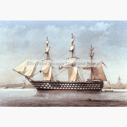 H.M.S. Duke of Wellington,1872 Prints KittyPrint 1800s Maritime Seascapes Ports & Harbours