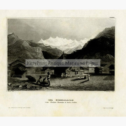 Himalaya 1840 Prints KittyPrint 1800s India & East Indies Landscapes