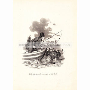 Hollo Jim Its Well You Snap't At The Hook C.1900 Prints