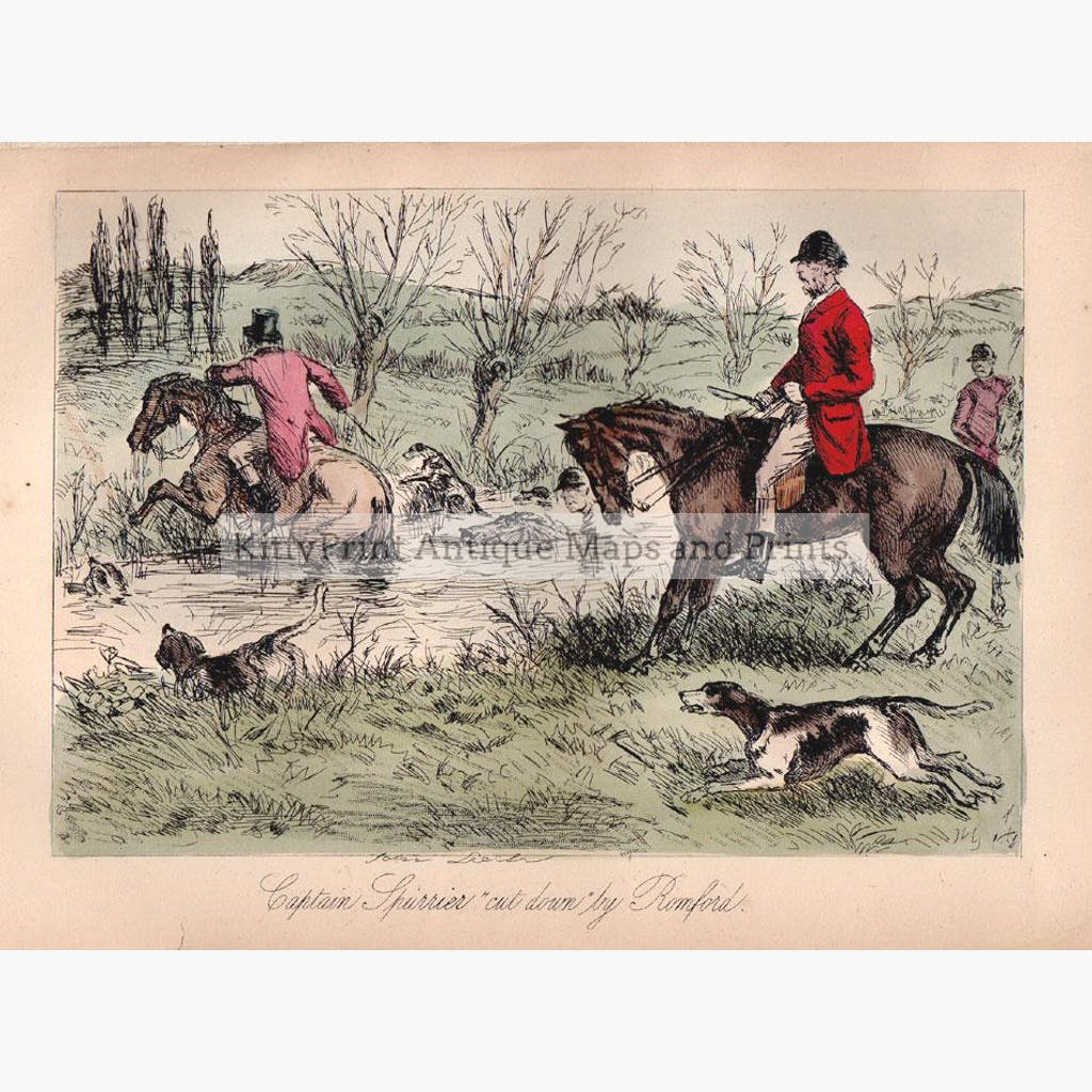 Hunting 1. 1860 Prints KittyPrint 1800s Caricatures & Cartoons Horses