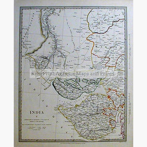 India Gujerat Cutch 1833 Maps KittyPrint 1800s India & East Indies