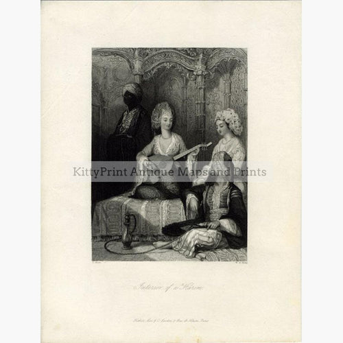 Interior of a Harem 1840 Prints KittyPrint 1800s Genre Scenes