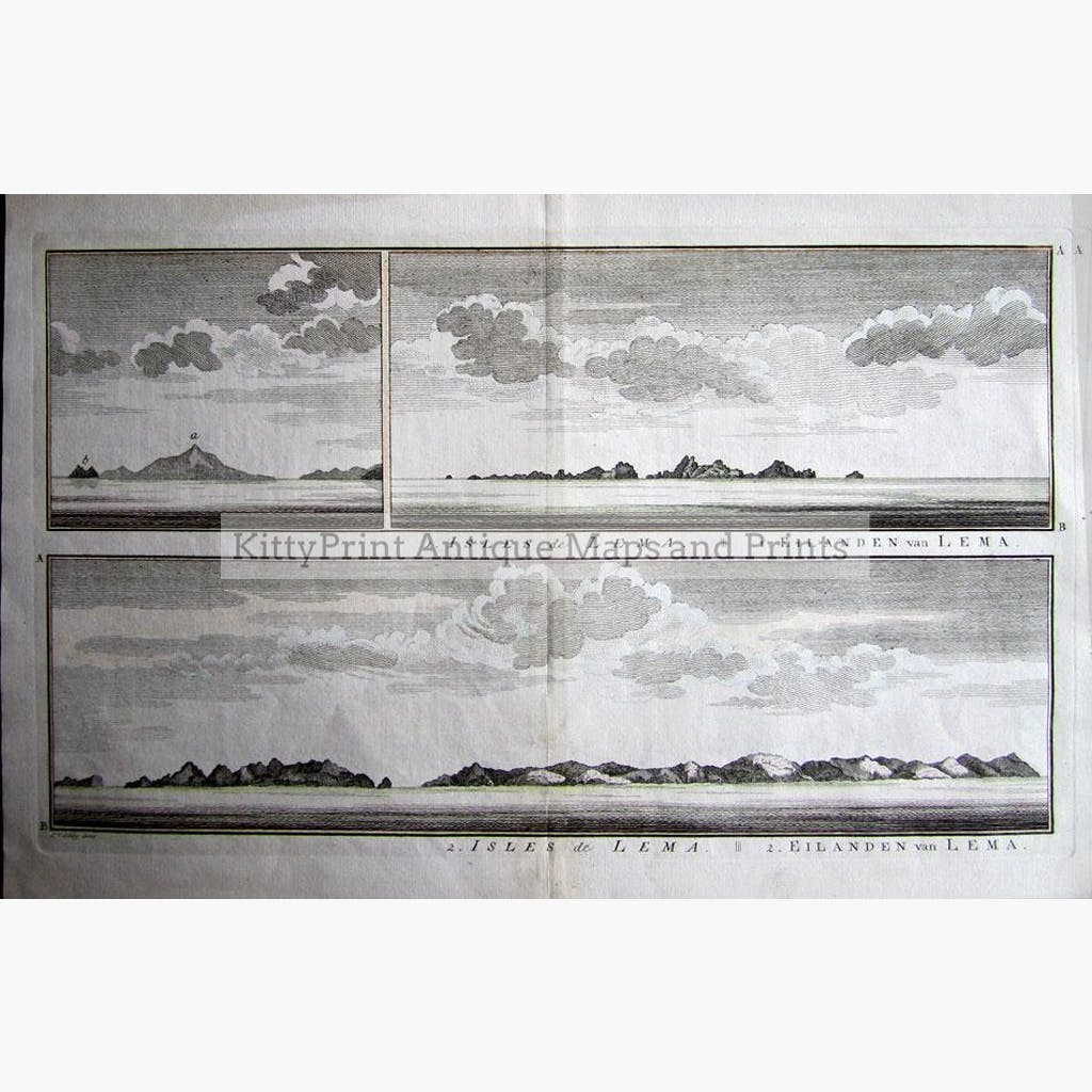 Isles de Lema 1747 Prints KittyPrint 1700s China Japan & Korea Seascapes Ports & Harbours