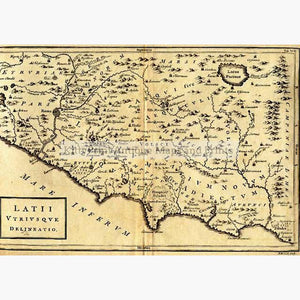 ItaIy with Rome Latium 1740 Maps KittyPrint 1700s Civilizations & Empires Italy