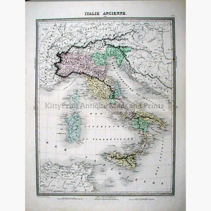 Italie Ancienne 1863 Maps KittyPrint 1800s Civilizations & Empires Italy