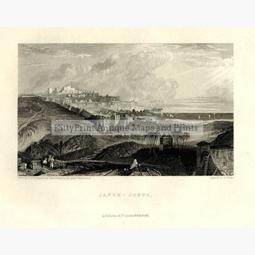 Jaffa-Joppa 1856 Prints KittyPrint 1800s Holy Land Landscapes Townscapes