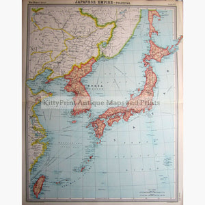 Japanese Empire -Political 1922 Maps
