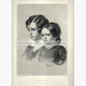 Lad and Lassie 1860 Prints KittyPrint 1800s Portraits