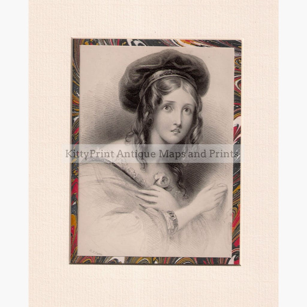 Lady c.1832 Prints KittyPrint 1800s Costumes & Fashion Portraits