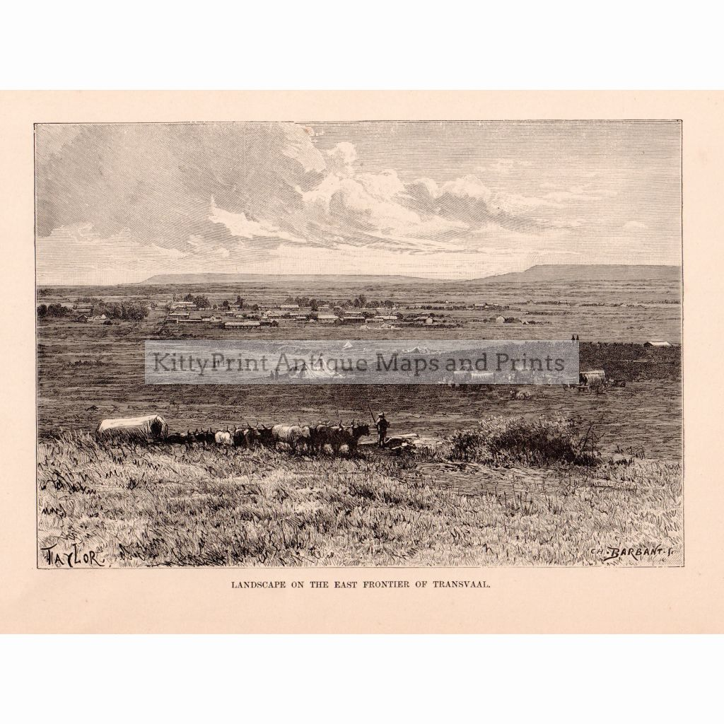 Landscape On The East Frontier Of Transvaal 1886 Prints