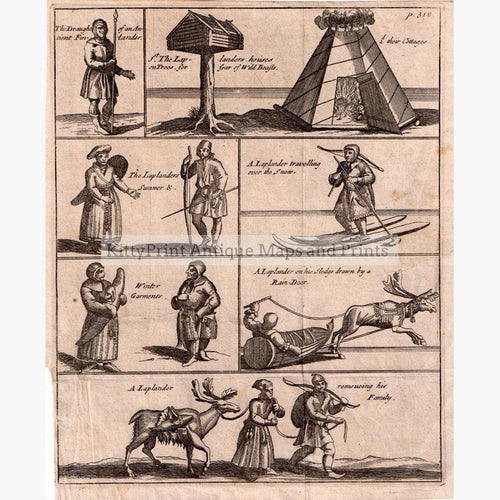 Laplanders 1695 Prints KittyPrint 1600s Genre Scenes Scandinavia & Nordic Countries
