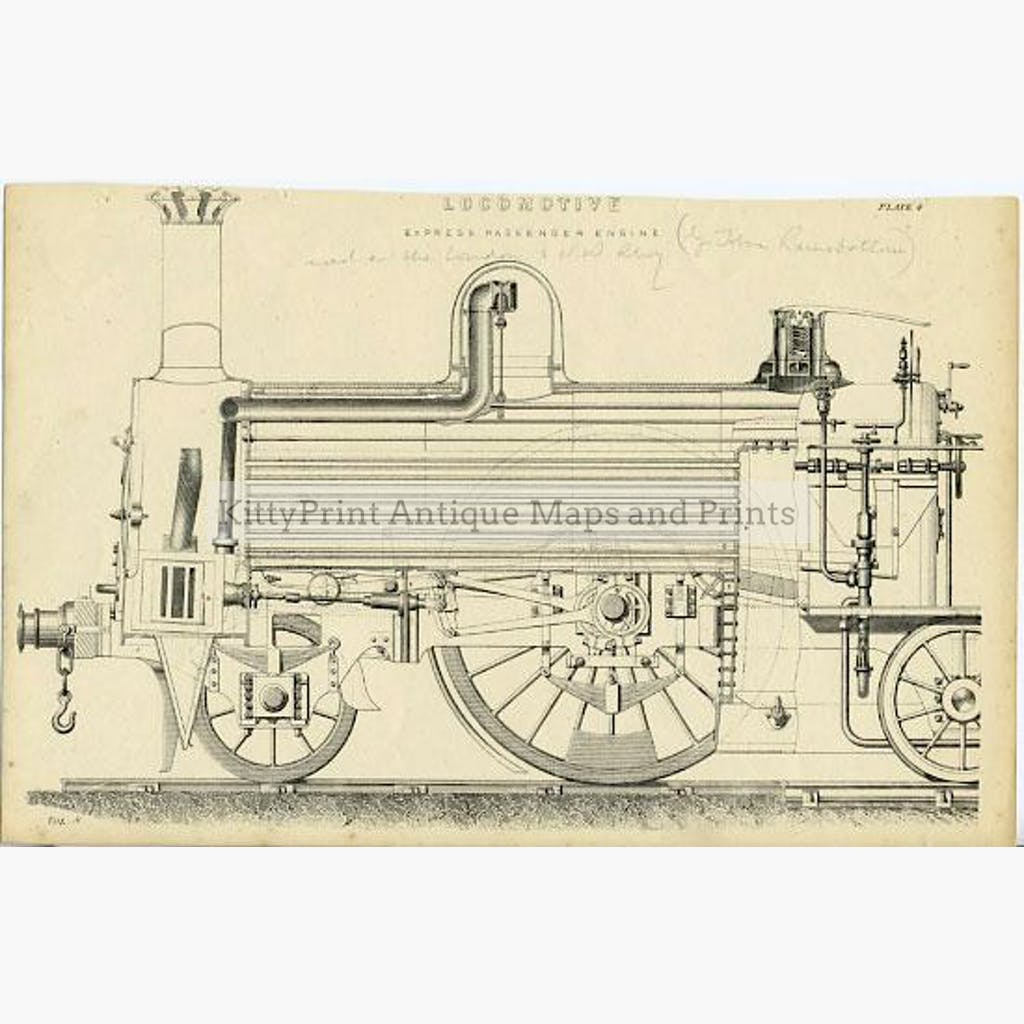 Locomotive c.1885 Prints KittyPrint 1800s Road Rail & Engineering