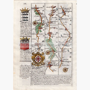 London To Abingdon 1720 Maps
