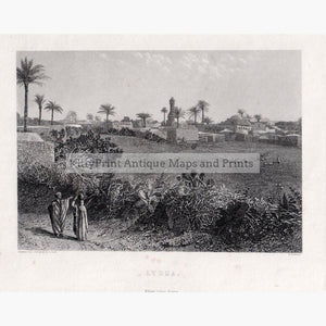 Lydda c.1880 Prints KittyPrint 1800s Holy Land Townscapes