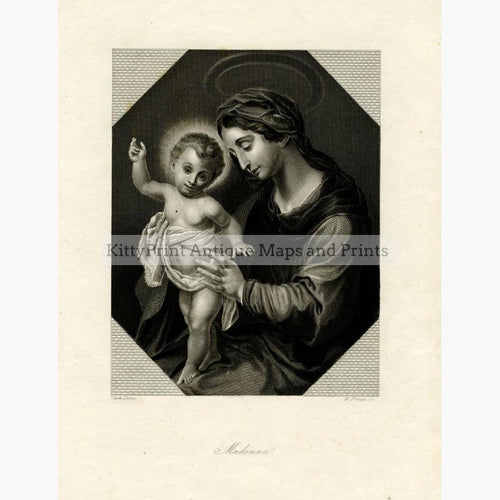 Madonna c.1850 Prints KittyPrint 1800s Religion