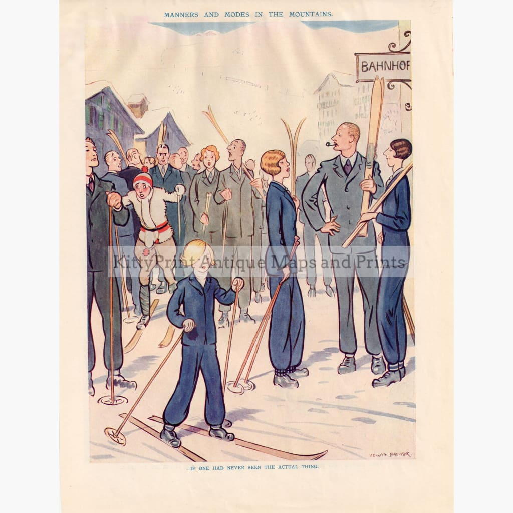 Manners And Modes In The Mountains 1931 Kittyprint Prints