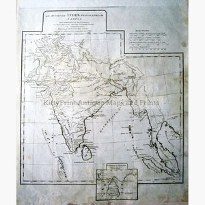 Map of Ancient India 1788 Maps KittyPrint 1700s Civilizations & Empires India & East Indies