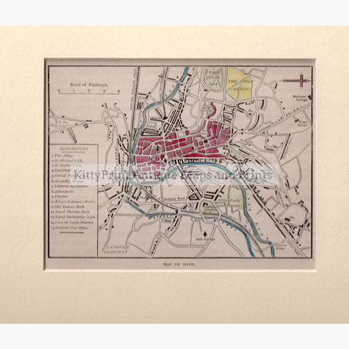Map Of Bath 1898 Maps