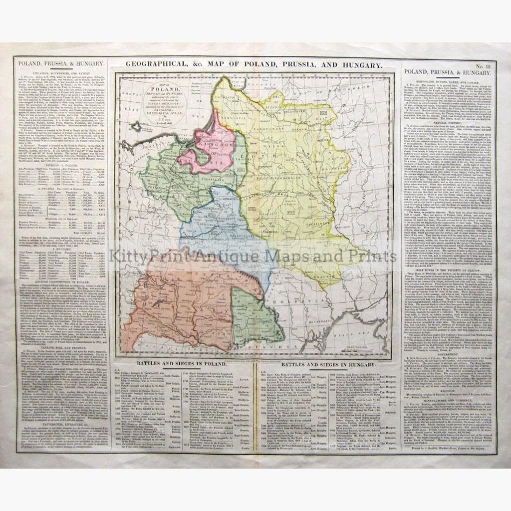 Map Of Poland Prussian And Hungary KittyPrint - 1800s world map