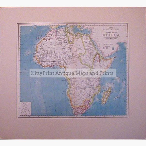 Map of Africa 1886 Maps KittyPrint 1800s Africa