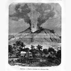 Martinique Eruption volcanique 1876 Prints KittyPrint 1800s Landscapes Volcanoes