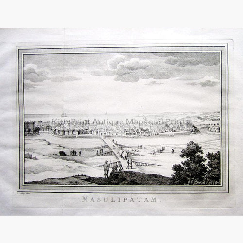 Masulipatam c.1747 Prints KittyPrint 1700s India & South Asia Townscapes
