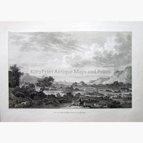 Meandre Vue des ruines de Milet c.1800 Prints KittyPrint 1800s Greece Landscapes
