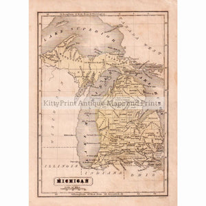 Michigan 1842 Maps