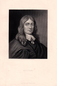 Antique Print, Milton, Poet c.1860