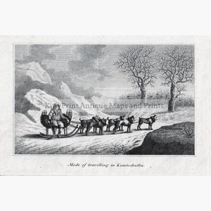 Mode of travelling in Kamtschatka c.1800 Prints KittyPrint 1800s Dogs Russia