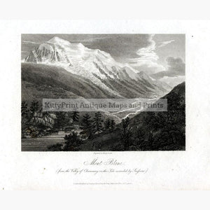 Mont Blanc 1808 Prints KittyPrint 1800s France Genre Scenes Landscapes