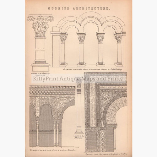 Moorish Architecture 1881 Prints