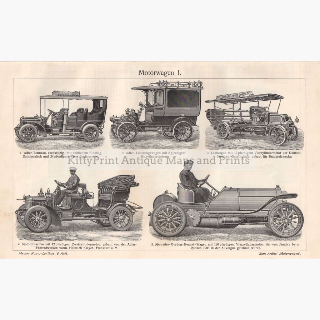 Motorwagen Motor Car 1906 Prints