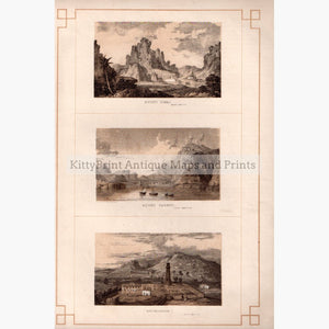 Mount Sinai Mount Carmel Bethlehem 1860 Prints KittyPrint 1800s Castles & Historical Buildings Holy Land Landscapes Seascapes Ports & Harbours Townscapes