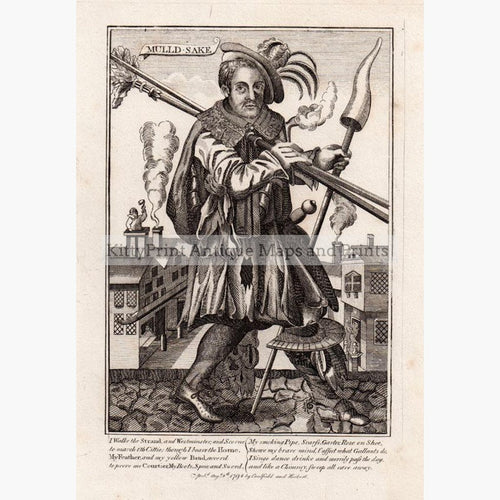 Mulld-Sake Chimney Sweep 1794 Prints KittyPrint 1700s Caricatures & Cartoons