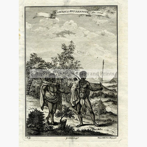 Namaqua Hottentots 1745 Prints KittyPrint 1700s Africa Costumes & Fashion Genre Scenes