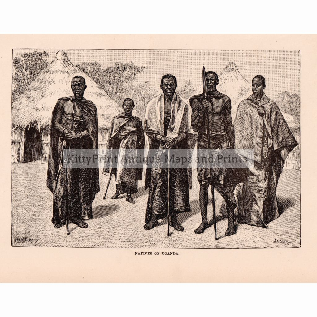 Natives Of Uganda,1886 Prints