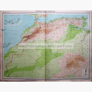North-West Africa 1922 Maps