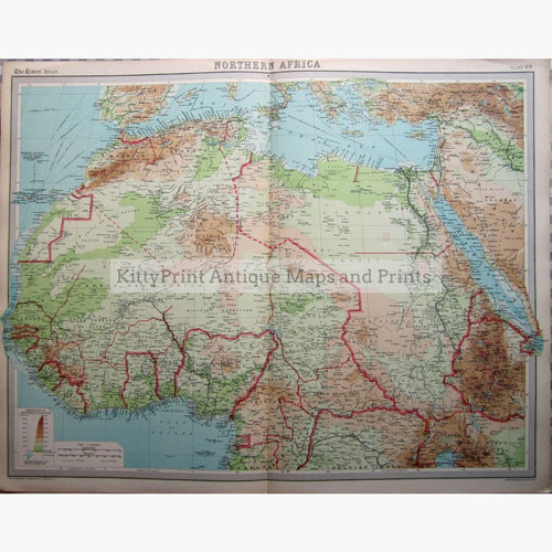 Northern Africa 1922 Maps