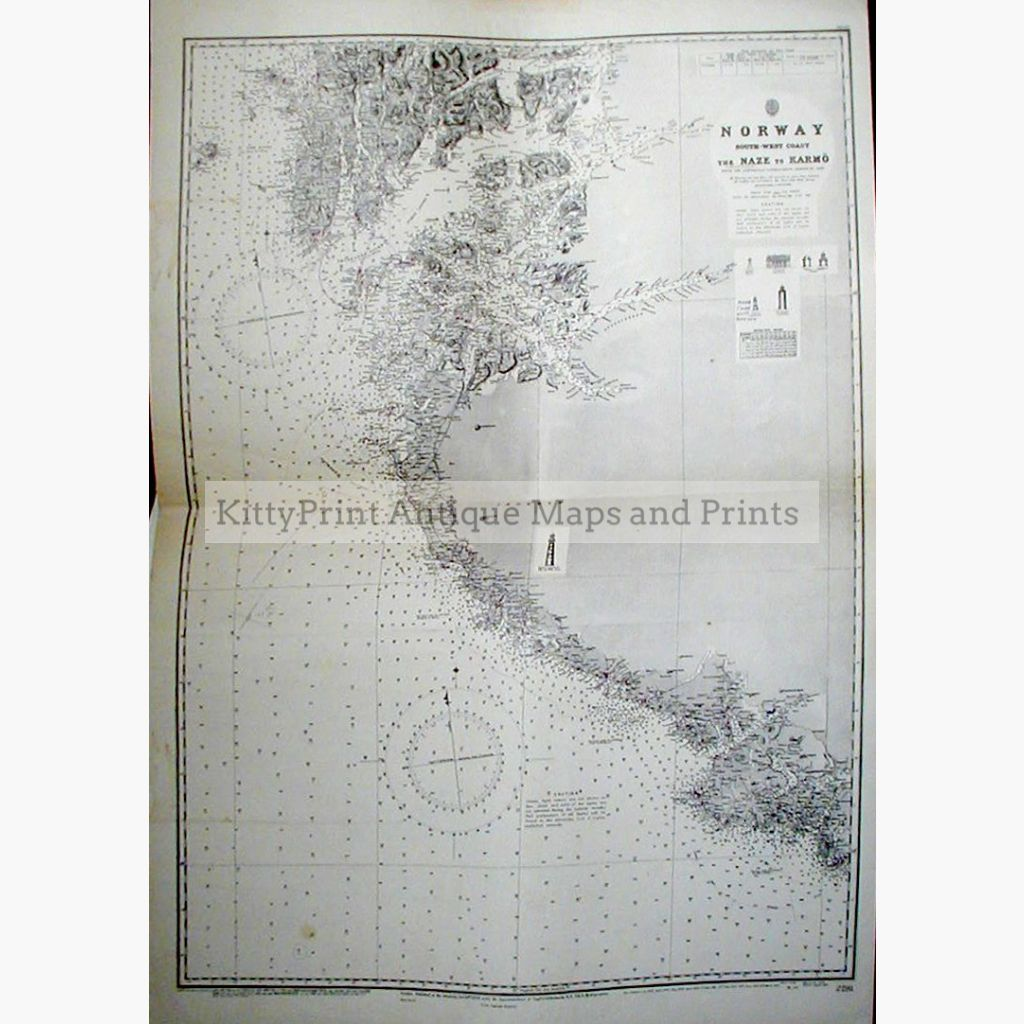 Norway South-West Coast 1869 Maps
