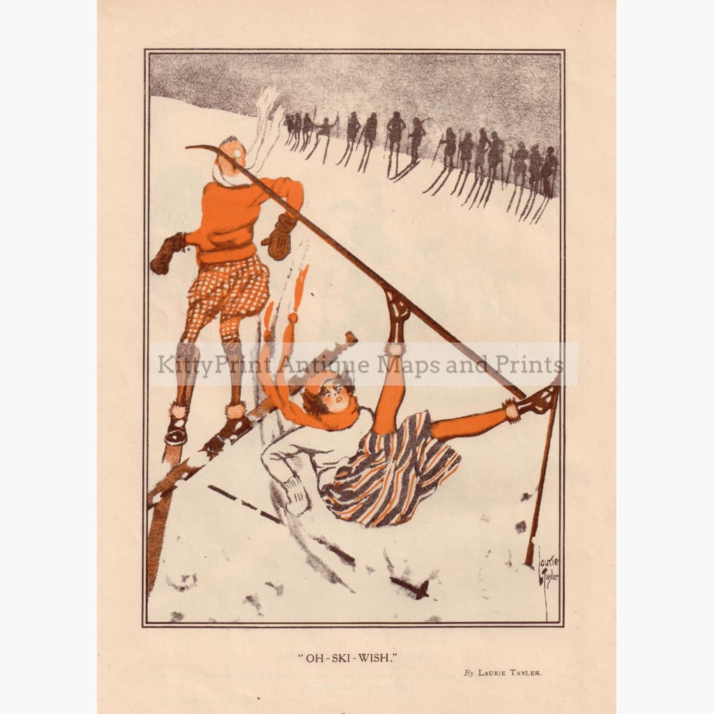 Oh-Ski-Wish 1920 Kittyprint Prints
