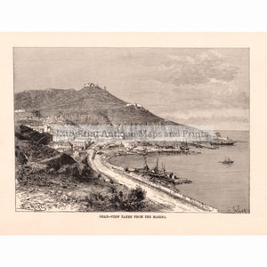 Oran - Algeria View Taken From The Marina 1886 Prints