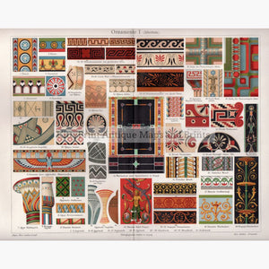 Ornamente L Altertum. Antiquity C.1906 Prints
