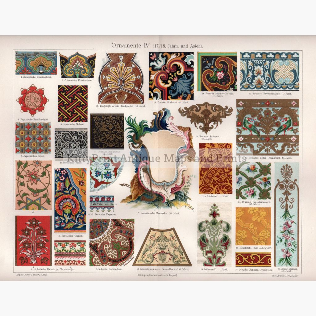 Ornamente Lv (17Th/18Th Century And Asia) C.1906 Prints
