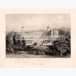 Osborn House Isle of Wight 1860 Prints KittyPrint 1800s Castles & Historical Buildings England